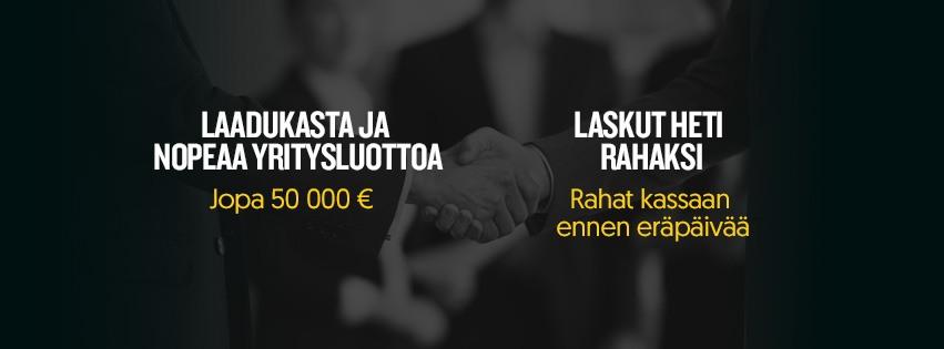 Yritysluottoa ja laskut rahaksi | Rahoittaja.fi