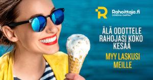 Älä odottele rahojasi koko kesää - Myy laskusi meille | Rahoittaja.fi